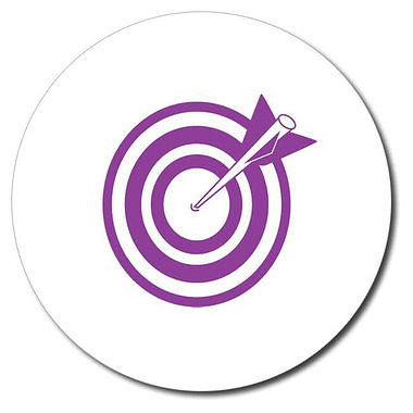 Personalised Arrow and Target Stamper - Purple (25mm)