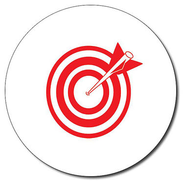 Personalised Arrow and Target Stamper - Red (25mm)