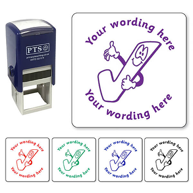 Personalised Tick Stamper (25mm)