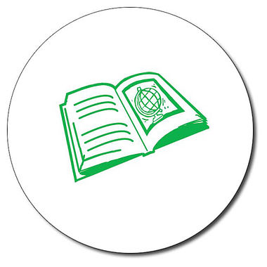 Personalised Book Stamper - Green Ink (25mm)