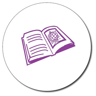 Personalised Book Stamper - Purple Ink (25mm)