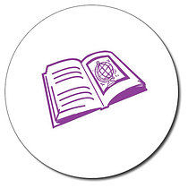 Personalised Book 25mm Purple Ink Stamper