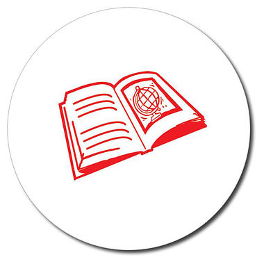 Personalised Book Stamper - Red Ink (25mm)