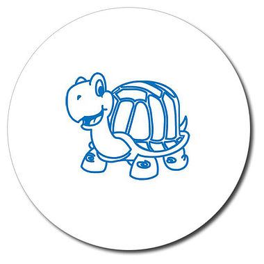 Personalised Tortoise Stamper - Blue Ink (25mm)