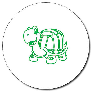 Personalised Tortoise Stamper - Green Ink (25mm)
