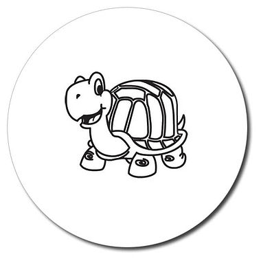 Personalised Tortoise Stamper - Black Ink (25mm)
