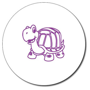 Personalised Tortoise Stamper - Purple Ink (25mm)