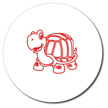 Personalised Tortoise Stamper - Red Ink (25mm)