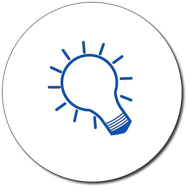 Personalised Lightbulb Stamper - Blue Ink (25mm)