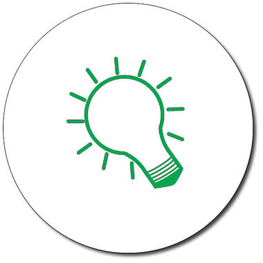 Personalised Lightbulb Stamper - Green Ink (25mm)