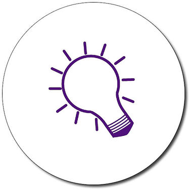 Personalised Lightbulb Stamper - Purple Ink (25mm)
