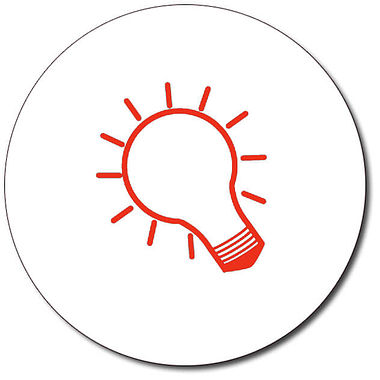 Personalised Lightbulb Stamper - Red Ink (25mm)