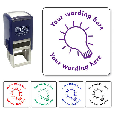 Personalised Lightbulb Stamper (25mm)