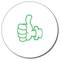 Personalised Thumbs Up 25mm Green Ink Stamper