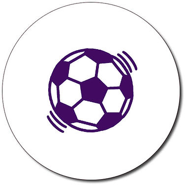 Personalised Football 25mm Purple Ink Stamper