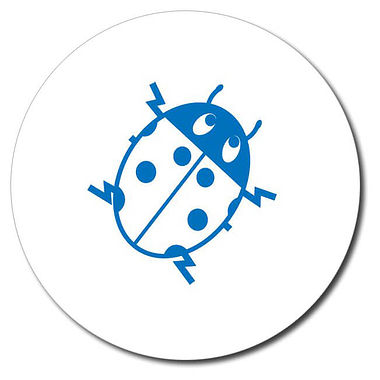 Personalised Ladybird Stamper - Blue Ink (25mm)