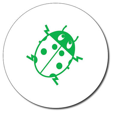 Personalised Ladybird Stamper - Green Ink (25mm)