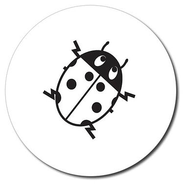 Personalised Ladybird Stamper - Black Ink (25mm)