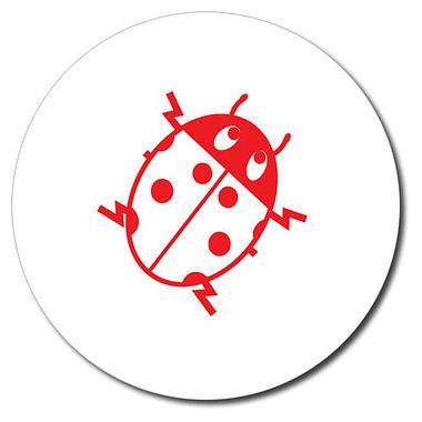 Personalised Ladybird Stamper - Red Ink (25mm)