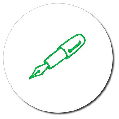 Personalised Fountain Pen Stamper - Green Ink (25mm)