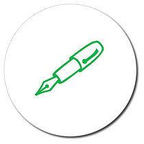 Personalised Pen 25mm Green Ink Stamper
