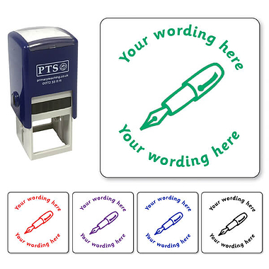 Personalised Fountain Pen Stamper (25mm)
