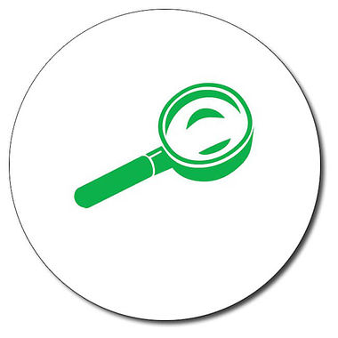 Personalised Magnifying Glass Stamper - Green (25mm)