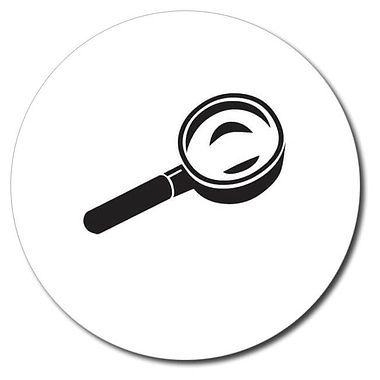 Personalised Magnifying Glass Stamper - Black (25mm)