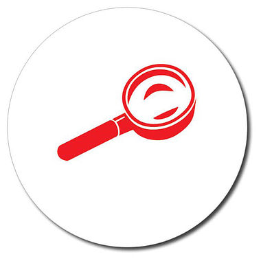 Customised Magnifying Glass Stamper - Red (25mm)