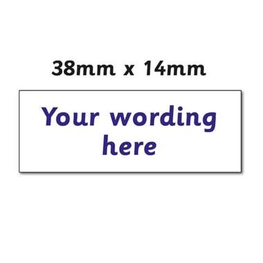 Personalised Design Your Own Stamper - Blue Ink (38mm x 14mm)