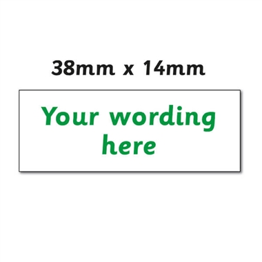 Personalised Design Your Own Stamper - Green Ink (38mm x 14mm)