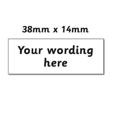 Personalised Design Your Own Stamper - Black Ink (38mm x 14mm)