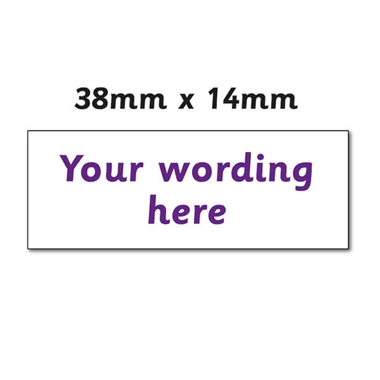 Personalised Design Your Own Stamper - Purple Ink (38mm x 14mm)