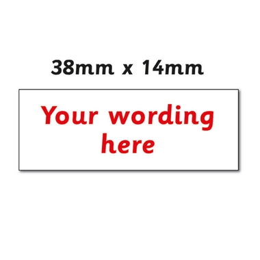 Personalised Design Your Own Stamper - Red Ink (38mm x 14mm)