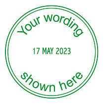 Personalised Marking Date Stamper Green Ink