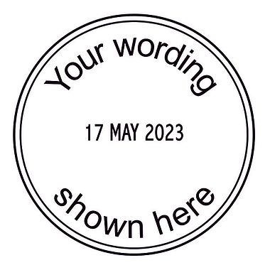 Personalised Date Stamper - Black Ink (38mm)