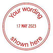 Personalised Marking Date Stamper Red Ink