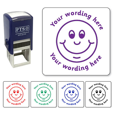 Personalised Smiley Face Stamper (25mm)