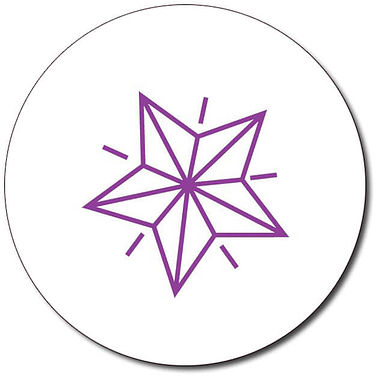 Customised Star Stamper - Purple Ink (25mm)