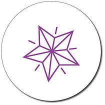 Personalised Star 25mm Purple Ink Stamper