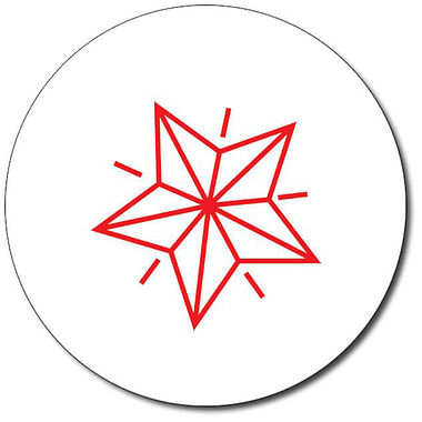 Customised Star Stamper - Red Ink (25mm)