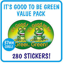 Value Pack of 280 Its Good to be Green 37mm Stickers
