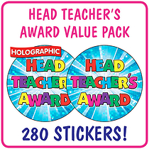 Value Pack of 280 Head Teachers Award Holographic Stickers