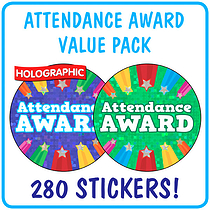'Attendance Award' Sticker Value Pack (Holographic, 37mm x 280)