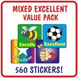 Excellent Stickers Value Pack (560 Stickers - 16mm)