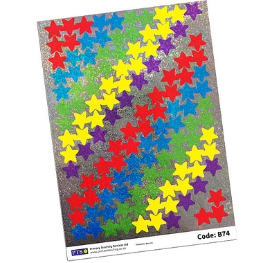 Sparkly Star Stickers (1120 Stickers in Pack - 18mm)