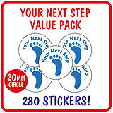 Your Next Step Stickers Value Pack (280 Stickers - 20mm)