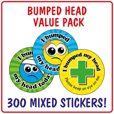 I Bumped My Head Stickers Value Pack (300 Stickers - 25mm)