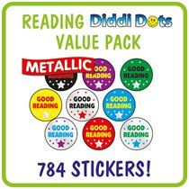 Value Pack of 784 Diddi Dot Good Reading 10mm Stickers