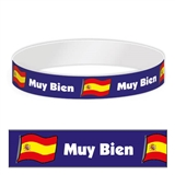 Pack of 30 Muy Bien Spanish Adhesive Paper Wristbands